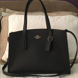 Handbags - Black COACH Charlie Carryall
